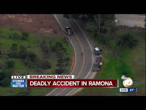 Deadly accident in Ramona