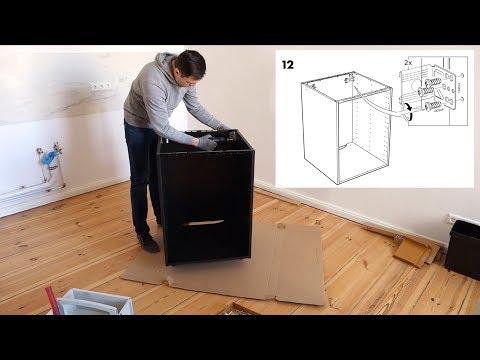 Ikea METOD Unterschrank Aufbau für Einbauofen/Spüle - Küche Korpus selbst aufbauen