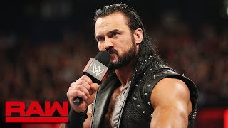 Drew McIntyre challenges Roman Reigns to a match at WrestleMania: Raw, March 18, 2019