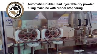 Automatic Double Head Injectable Dry Powder Filling Machine