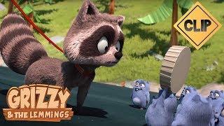 Grizzy et son raton laveur vont-ils retrouver les Lemmings ? - Grizzy & les Lemmings