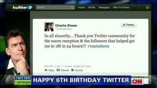 Only In America:  Happy 6th Birthday Twitter