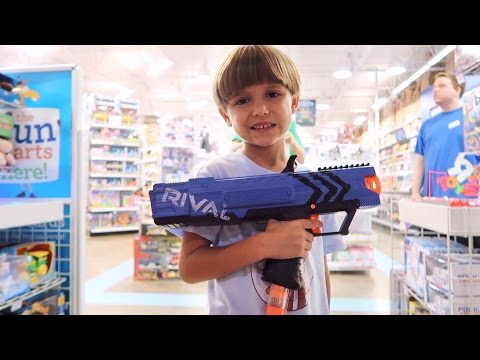 Toys R Us Shopping and Nerf RIVAL Test