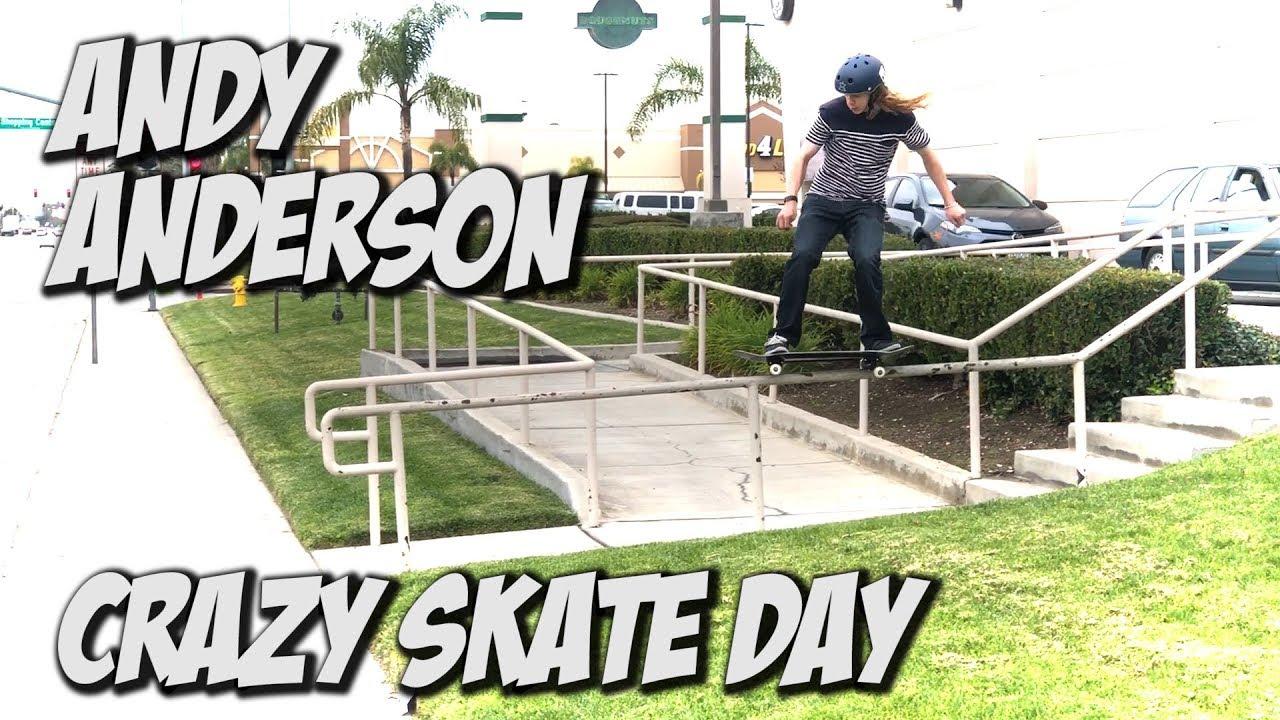 ANDY ANDERSON & VINNIE BANH CRAZY SKATE DAY !!! - NKA VIDS - - Nka Vids Skateboarding