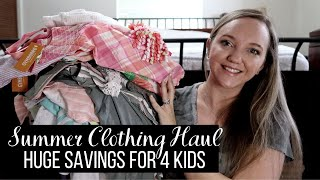 $1K KIDS SUMMER CLOTHING HAUL + GIVEAWAY || HUGE SAVINGS || GYMBOREE, GAP, + JUSTICE