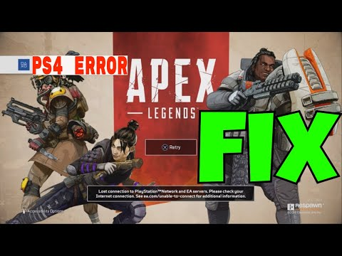 HOW TO Fix APEX LEGENDS Crash Error Code CE-34878-0 Menu Not Loading & PS4 EA Server PROBLEM