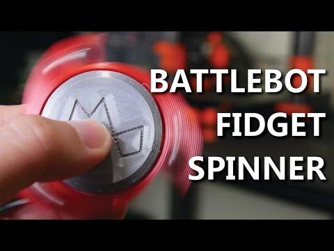 Combat Robot inspired Fidget Spinner - 3D Printed