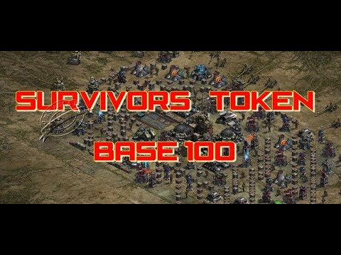 War Commander : Survivors Token Base 100 (New Layout)