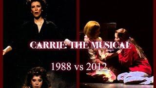 "Carrie: The Musical - ""Evening Prayers"" w/ Lyrics (1988 vs 2012)"
