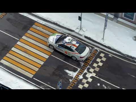 Квалификационные испытания беспилотного автомобиля StarLine на конкурсе «Зимний город»