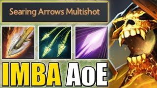 Split Shot + Searing Arrows Multishot + Psi Blades [1 Hit = Infinite Arrows] Dota 2 Ability Draft