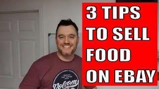 Selling on Ebay 3 tips selling food online