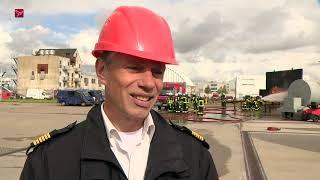 Brandweer Lelystad Airport oefent op Schiphol
