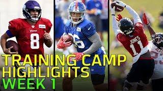 2018 Training Camp Highlights Week 1: Odell, Jackson, Wentz, Luck, & More! | NFL
