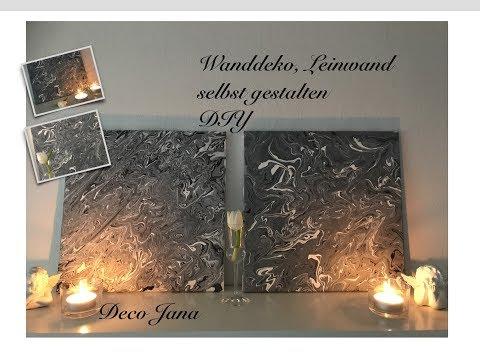 DIY: Wanddeko, Leinwand- Keilrahmen Bild selbst gestalten / Deko Jana