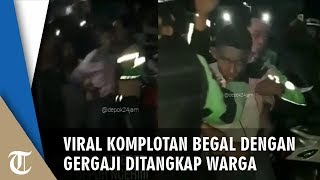Viral Video Begal dengan Gergaji di Depok Ditangkap Warga, Nyaris Diamuk Massa
