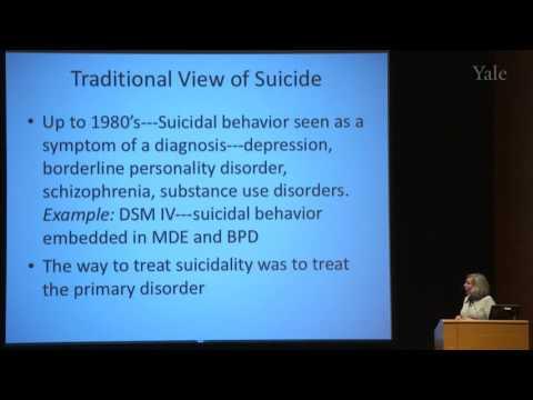 Barbara Stanley, P.D. - Suicidal Behavior in Borderline Personality Disorder