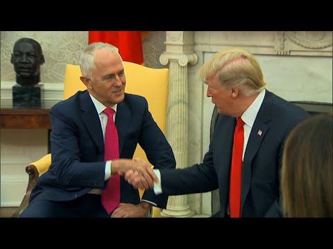 Australian Prime Minister Arrives at White House