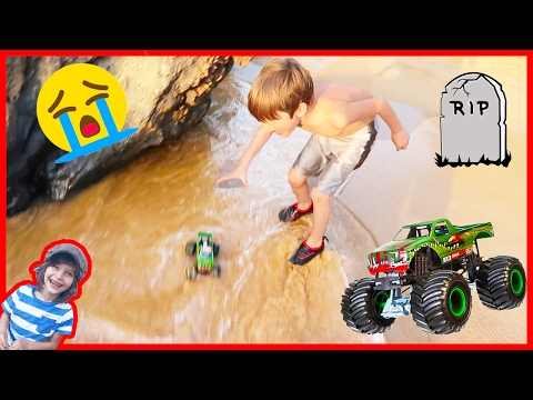 😭Monster Truck Lost at Sea Again!🌊