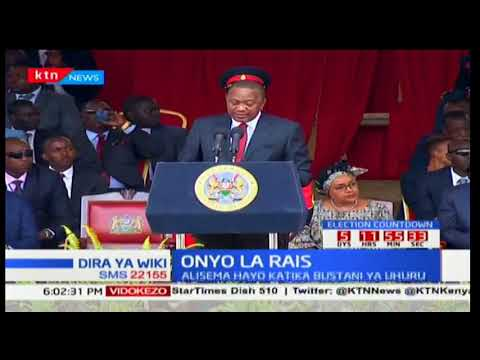 ONYO LA RAIS! Uhuru awaonya wapangao kuzua fujo