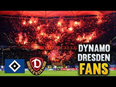 PYROSHOW & FANGESÄNGE - Dynamo Dresden beim HSV