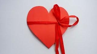 DIY: How To Make Heart Shape Card !!! Valentine Pop Up Card !!!