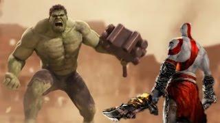 The Incridible Hulk vs God of War (Kratos)