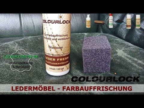 Ledermöbel - Farbauffrischung - Lederpflege - Lederzentrum