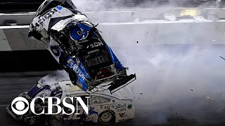 NASCAR driver Ryan Newman is in serious condition with non-life-threatening injuries following a horrific crash during the final lap of the Daytona 500. CBS2 New York's Dick Brennan reports.
