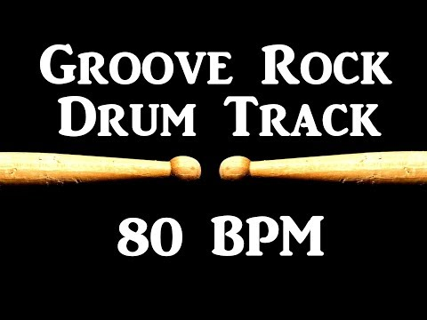 Raw Rock Drum Track 110 BPM Bass Guitar Backing Beat Drums