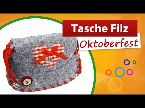 tasche filzen tasche f r oktoberfest basteln stricken. Black Bedroom Furniture Sets. Home Design Ideas