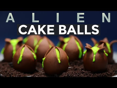 ALIEN EGG CAKE BALLS - NERDY NUMMIES - ALIEN COVENANT