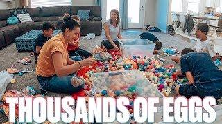 FILLING THOUSANDS OF EASTER EGGS BY HAND | HUGE EASTER EGG HUNT