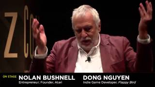 Dong Nguyen and Nolan Bushnell at 2014 WIRED Business Conference in New York
