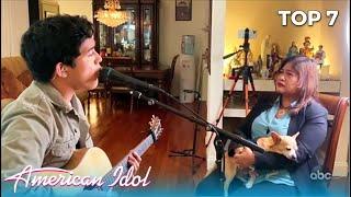 Francisco Martin SHOCKS His Mom Fatima With Birthday Mother's Day Dedication | @American Idol Top 7