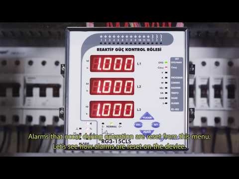 RG3-15 CLS Power Factor Controller Reset Operations