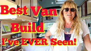 Woman Does the Very Best Van Build I've Ever Seen! Magnificent!