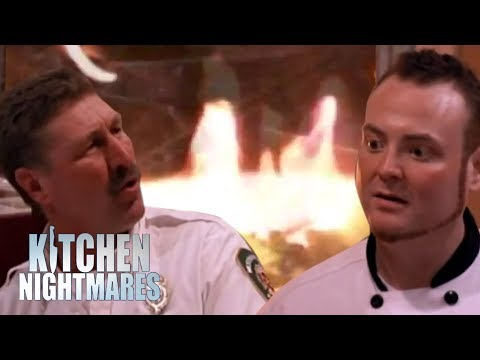 Chef Gets Roasted By Firemen | Kitchen Nightmares