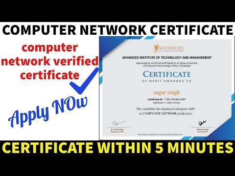 Computer Network Free Certificate | Computer Network Courses ...