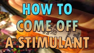 How to Handle the Comedown of a Stimulant