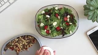 Mepal Saladebox Ellipse Blauw