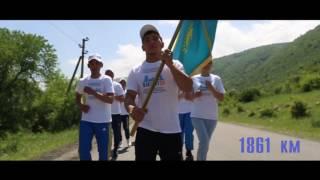 В Алматинской области завершился марафонский бег на 25 тысяч километров  участники марафона на