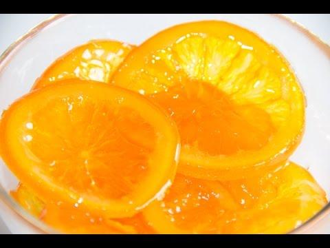 Naranja Confitada para decorar dulces y postres
