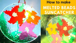 DIY- Melted Beads Suncatcher #SuncatcherDIY #Meltedbeadssuncatchers