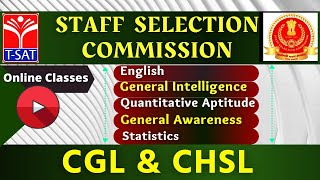 Staff Selection Commission CGL/CHSL | T-SAT Online Classes | 26.02.21