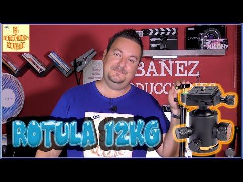 Rotula para trípode, hasta12kg Buena Bonita y Barata - 4K UHD