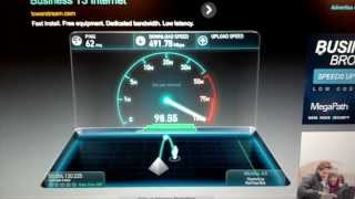 The fastest Internet speed I have ever seen
