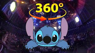 360 / VR 4K Stitch's Great Escape Full Ride w/ spatial Audio at Magic Kingdom, Walt Disney World