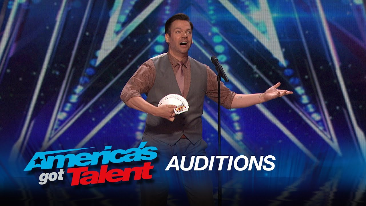 Derek Hughes: Comedic Magician Pulls a Card Out of His Butt - America's Got Talent 2015 thumbnail