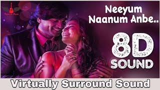Neeyum Naanum Anbe | 8D Audio Song | Imaikka Nodigal | Vijay Sethupathi, Nayantara | Hiphop Tamizha